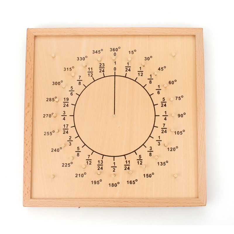 Montessori Geometric Fraction Board Wooden Educational Toys For Children Juguete Montessori Kids Learning Toys ML0764H in Math Toys from Toys Hobbies