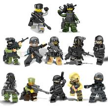 Military series Counter Strike building block Ghost Terrorist assault forces minifigures weapons bricks compatible with legos