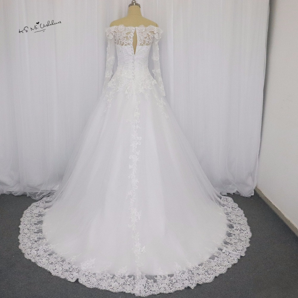 Vintage Lace Wedding Dress Long Sleeve Vestido de Noiva Princesa ...
