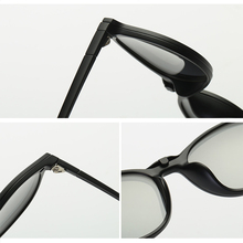 Spectacle Frame Men Women With Polarized Magnetic Clip On Sunglasses