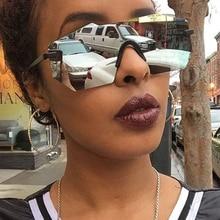 2018 Fashion Siamese Sunglasses Women Luxury Brand Designer Rimless Sun Glasses Ladies UV400 Mirror Lens For Female  RS001