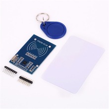 10pcs/lot RC522 RFID NFC Reader RF IC Card Inductive Sensor Module For Arduino Module + S50  Card + keyfobs rfid 13 56mhz ic mf1 s50 s70 ntag213 ntag215 ntag216 nfc reader portable mirco usb card reader for android phone