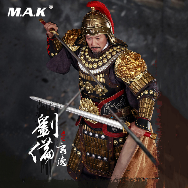 For Fans Collection Gift  Full Set Action Figure Model Toys 1/6 Three Kingdoms Series Liu Bei Xuan De Armed Ver. Figure