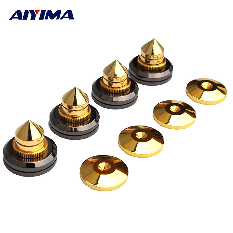 AIYIMA 4 Pair Mini Portable Audio Speaker Spikes Speakers Repair Parts DIY Speaker Stand Shock Pin Nails And Pads  Accessories