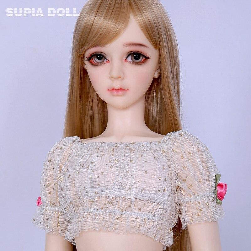 BJD SD Poupées Supia Lina Fille 1/3 Résine Firgures Fullset Féerie Dollmore Littlemonica Supergem Avec En Option Elf Oreilles