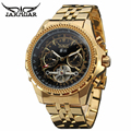 Golden Big Dial Mens Watches Top Brand Luxury Automatic Self-wind Relogios Masculino Military Watch Mechanical Tourbillon Clock