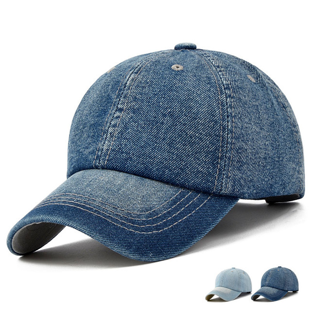 Unisex Solid Denim Baseball Cap Blank Washed Jean Hat Casquette Adjustable  Snapback Hats Caps For Men And Women 0e73425431a