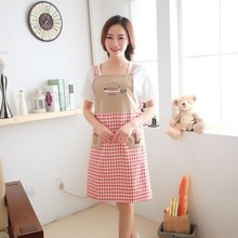 Lovely embroidery three trees sleeveless household apron Shoulder belt type overalls 80*70cm free shipping