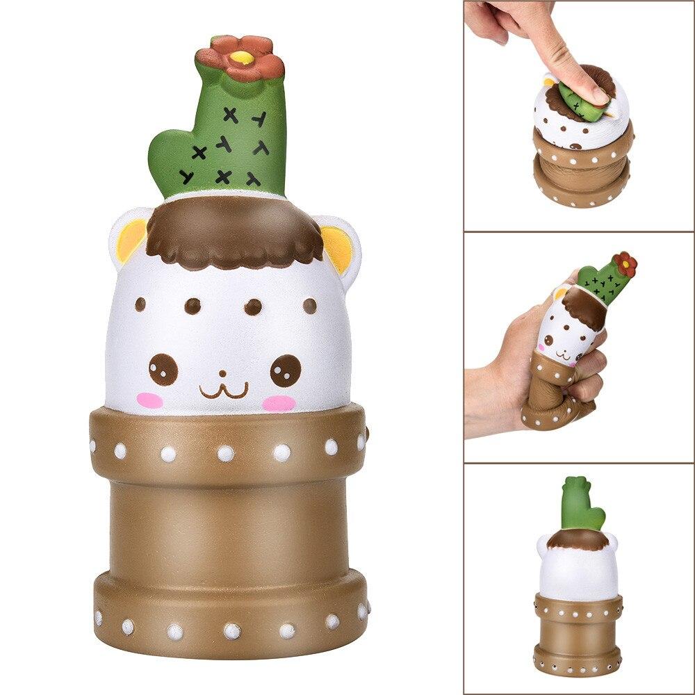 15 Cm Kreative Topfpflanzen Lustige Magie Squishy Kaktus Baby Duft Langsam Rising Squeeze Sammeln Stressabbau Spielzeug Cc # Dropship Hochglanzpoliert