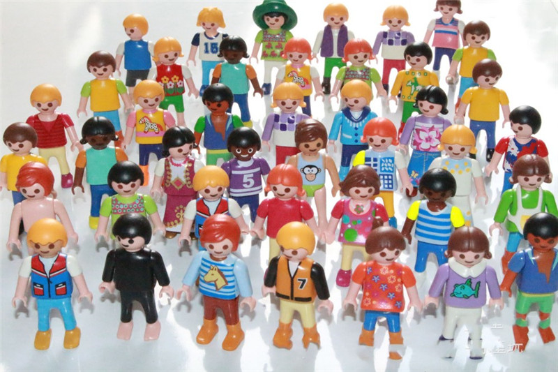 (A Toy A Dream) 7Pcs/Lot 5 cm Germany Playmobil toy action figure blocks randomly kids toys Christmas gift collection TOY