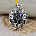 Skull S925 sterling silver gilt silver jewelry wholesale antique style unique cool struck