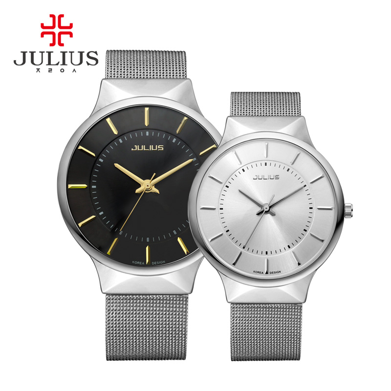 JULIUS Mode Casual Luxury Watch Topp Märkeslogo Mäns Watch Silver - Damklockor - Foto 5