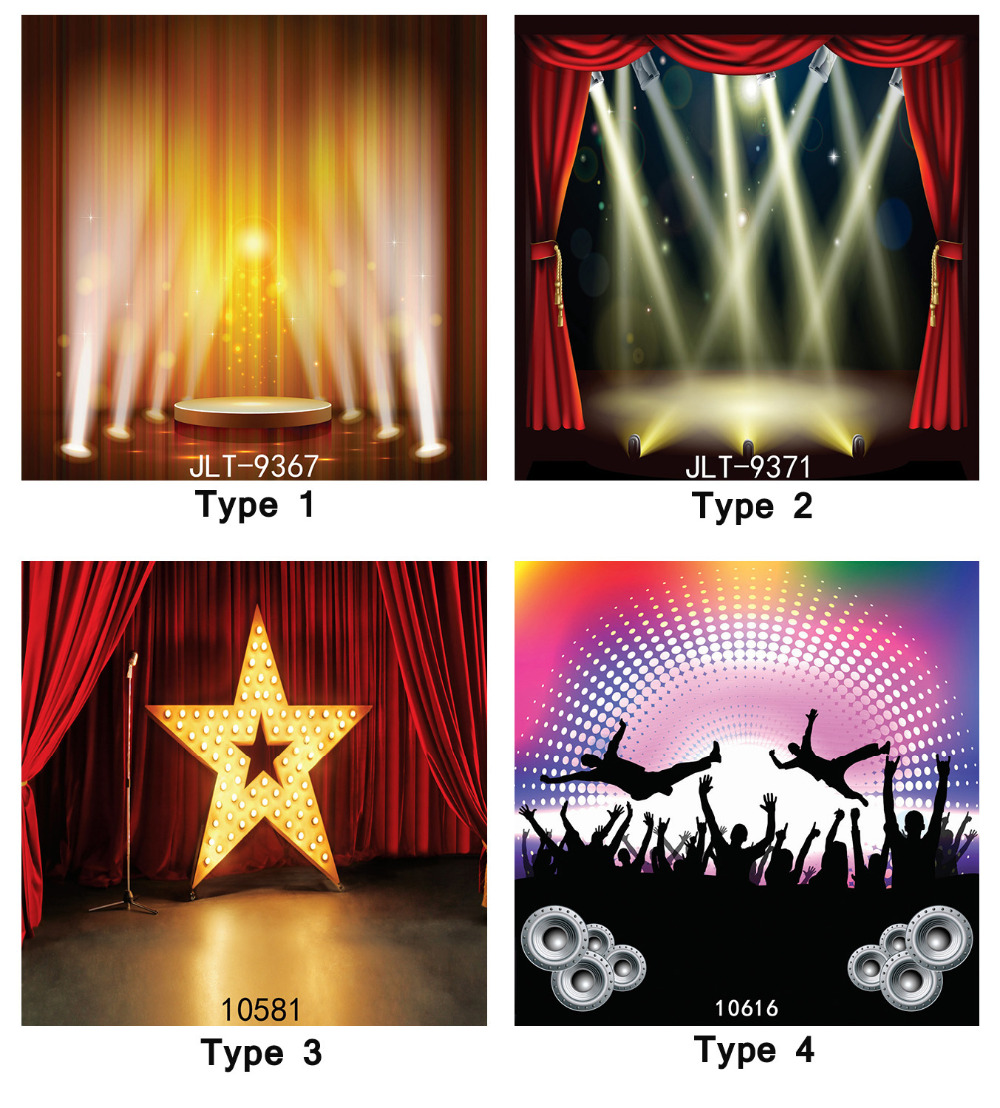 Stage Lighting Party Red Curtain Musical 8X8ft Photography Background Camera Fotografica Printd Cloth Backdrops for Photo Studio ashanks 3 x 2000w fresnel tungsten spotlight camara fotografica video lighting for photography studio lighting bulb barndoor