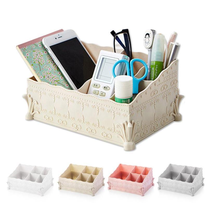 Fashion Home Storage Box Desktop Shelves Storage Case Makeup Cosmetic Organizer for Jewelry #30