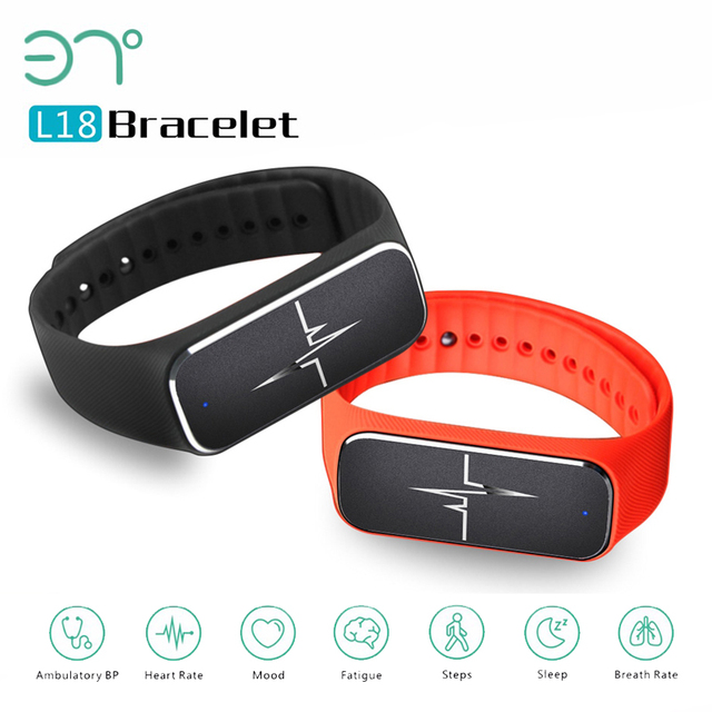 37 Degree L18 Smart Wristband pedometer bracelet with Heart Rate Monitor Blood Pressure Fatigue State Sleep Sportsr smartband