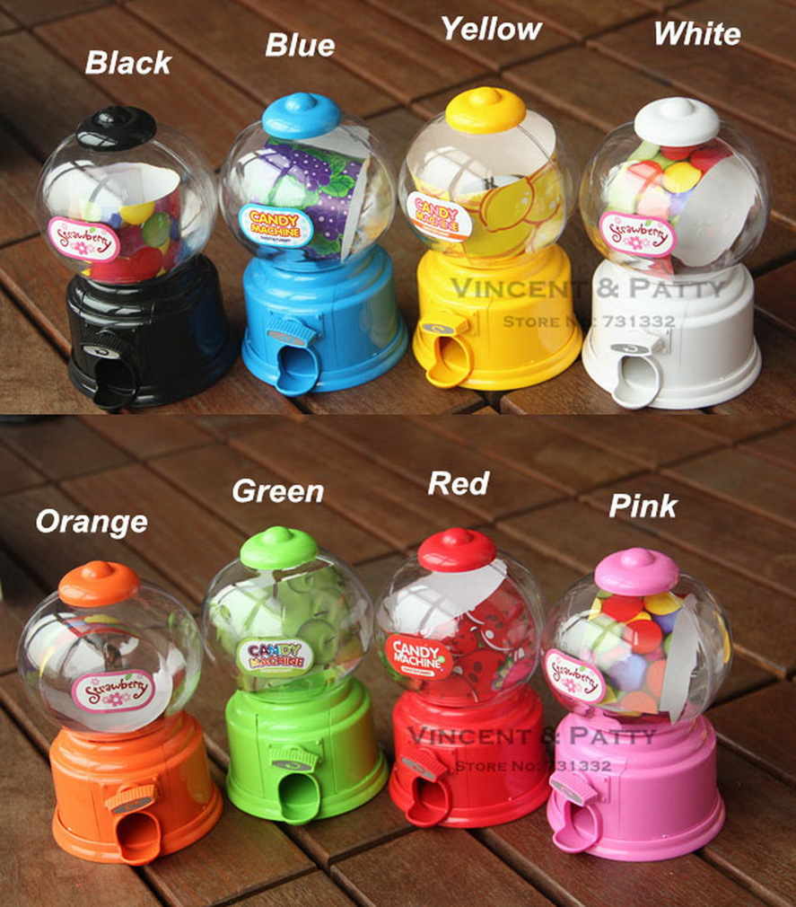 Cute Sweets Mini Candy Machine Bubble Gumball Dispenser Coin Bank Kids Toy Worldwide sale Money Saving Box Baby Gift Toys