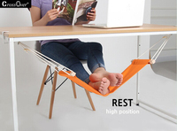 Adjustable Mini Desk Feet Hammock Feet Rest Pedal Foot Chair Care Tool Desk Portable Feet Hammock