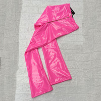 Pink High Waist Flare Pants Women PU Leather Trousers 2019 Spring New Fashion Clothing Bottoms Female