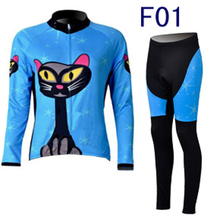 Women Autumn Breathable Cycling Clothing/MTB Bicycle Wear Ropa Ciclismo/Race cycling Clothes/Bike Cycling Jersey Set