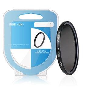 Image 5 - RISE (UK) 49mm 52mm 55mm 62mm 67mm ND1000 72mm 77 milímetros magro densidade Neutra ND filtro para a lente da câmera digital DV