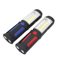 Outdoor USB Rechargeable Lamp COB LED Flashlight Work Magnet Stand Light With Hook CLH 8