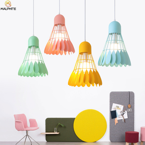 Nordic hanging Badminton Pendant Lamp color iron hanglamp Modern lighting pendant lights luminaire cafe Industrial Decor Fixture