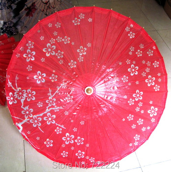 Dia 84cm Handmade Plum Blossom Picture Oiled Paper Umbrella Chinese Traditional Sunshade Parasol Decoration Gift Dance Umbrella