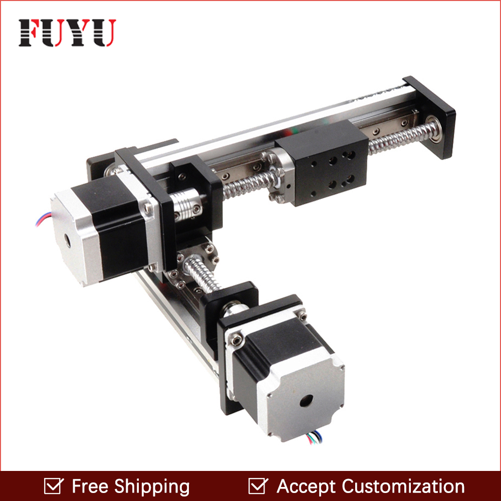 Free Shipping FLS40 linear guide rail stage slide module ball screw for XY axis robotic arm thread rod accept customization free shipping ptfe stir rod for overhead stirrer