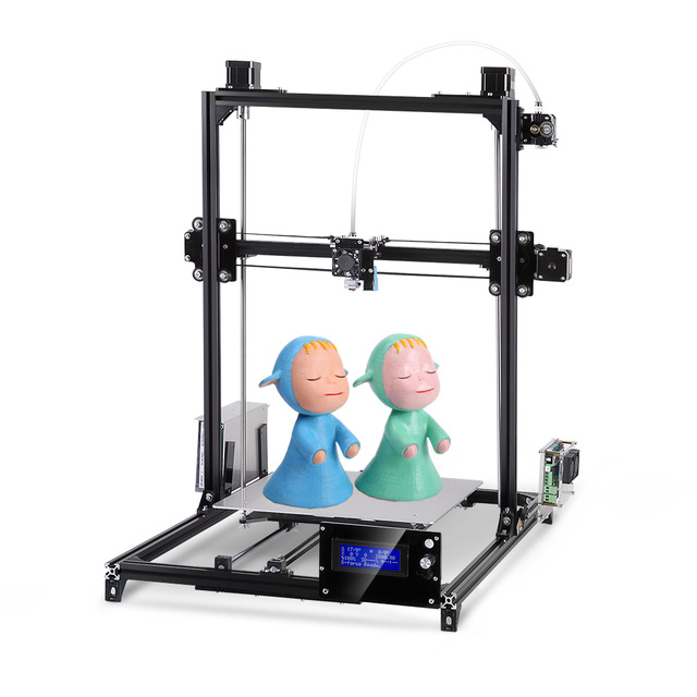 все цены на I3 3d Printer Plus Printing Size Touch Screen Dual Extruder Auto Leveling Heated Bed One Rolls Filament DIY 3D Printer Kit