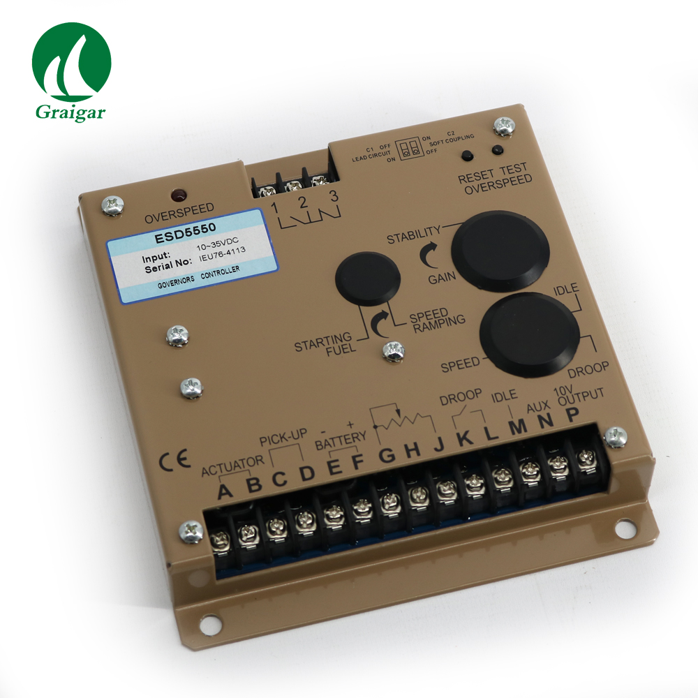 New Engine Governor Generator Speed control unit ESD5550  precise response transient load changes. diesel engine speed control unit 3044196