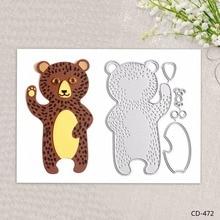 Cute Bear Metal Cutting Dies for DIY Scrapbooking Photo Album Embossing Folder Stencil Die Cut