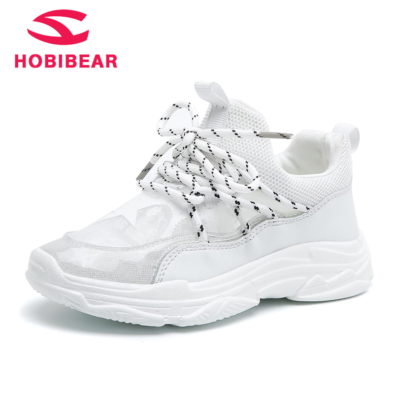HOBIBEAR Kids Sneakers for Girls Boys Trainer Shoes Mesh Slip On Breathable Tennis Training Shoes for Children Footwear AU3606