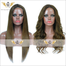 7A Brazilian Straight Human Hair Full Lace Wigs Medium Green Glueless Body Wave Lace Front Wigs With baby Hair Virgin Hair Wigs