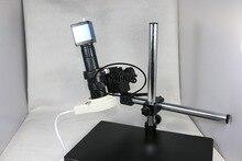 Эффективных Пикселей VGA выходы Промышленности Микроскоп 2-МЕГАПИКСЕЛЬНАЯ Камера + 180x C-mount Объектив + большой бум кронштейн для ЛАБОРАТОРИИ PCB Мобильного телефона ремонт