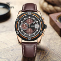 MEGIR new brand fashion men's sport watches man's quartz hour date clock leather strap military army waterproof wristwatch 2023G