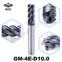 GM 4E D10 0 Cnc High Speed Profile Milling Cutter For Metal Solid Carbide 4 Flute