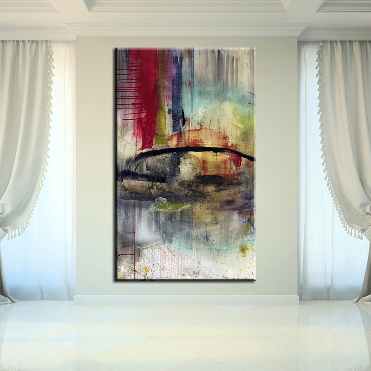 Pop ART Large Hand Painted Abstract Impasto Oil Painting on Canvas Wall Picture Living Room Bedroom Wall Art Home Decoration in Painting Calligraphy from Home Garden