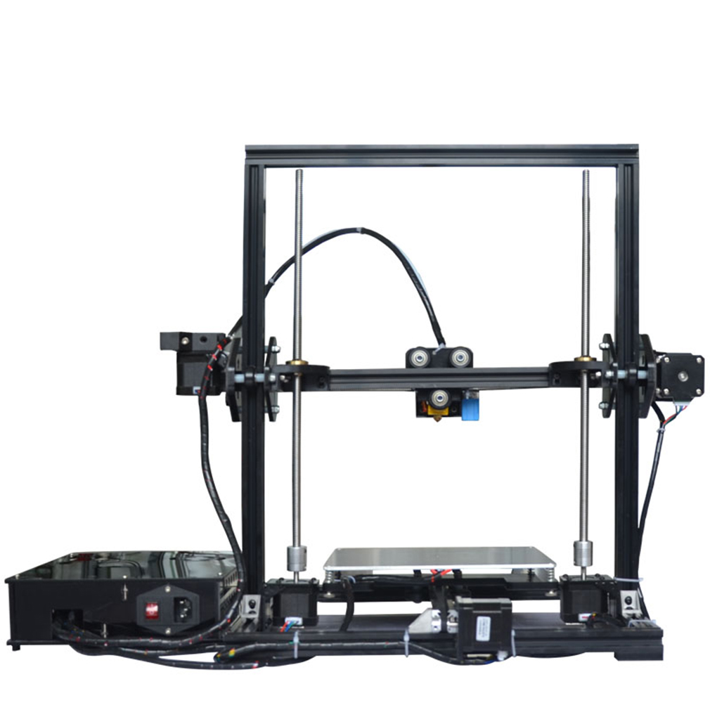 Profil en Aluminium Extrusion 3D imprimante Kit imprimante 3D impression carte SD LCD écran roue en plastique avec roulements nivellement automatique