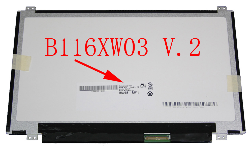 11.6'' lcd matrix screen B116XW03 V.2 N116BGE-L41 N116BGE-L42 For Acer ASPIRE ONE 722-0473 AO722 756 V5-171 v5-131 replacement quying laptop lcd screen compatible model nt116whm n10 n116bge l41 n116bge l42 n116bge lb1 b116xw01 v 0 11 6 inch slim 40 pin