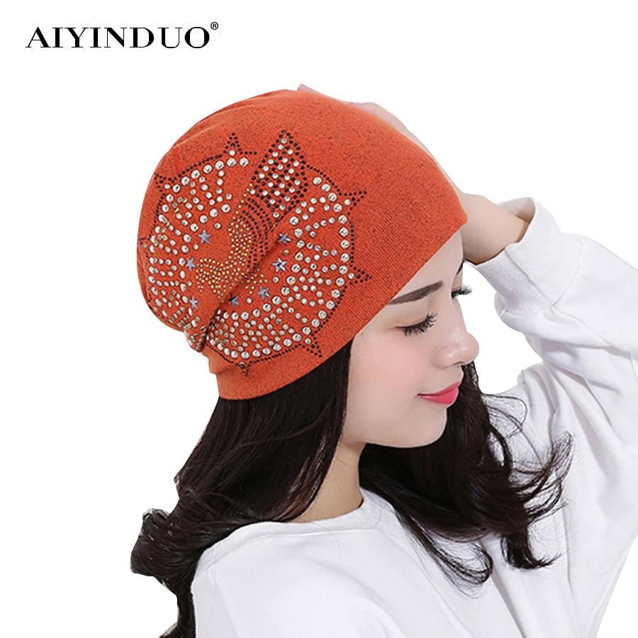 New Fashion Autumn Knit Baggy Beanie Hat With Star Eagle Female Warm Winter Hats For Girls Women Beanies Bonnet Head Cap