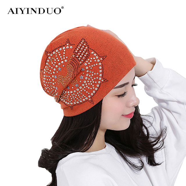 New Fashion Autumn Knit Baggy Beanie Hat With Star Eagle Female Warm Winter  Hats For Girls 26a9cfa6e
