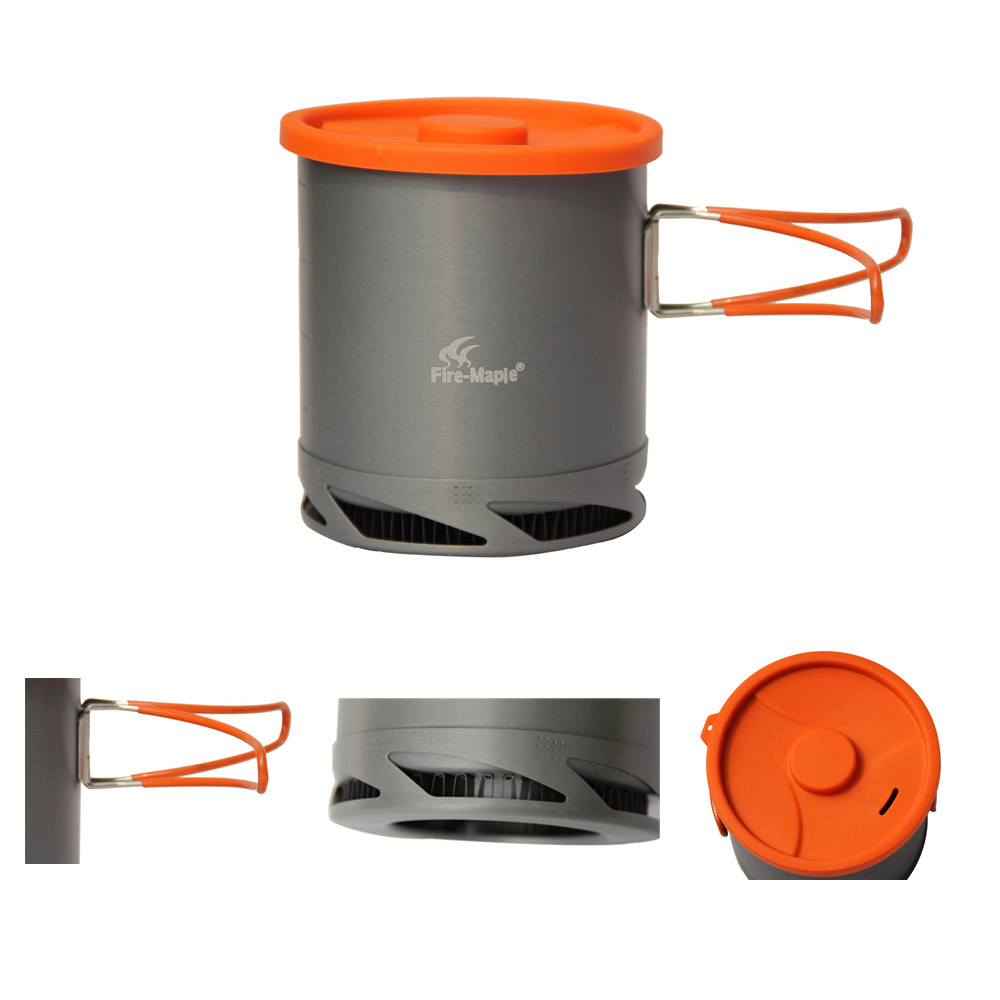 Fire-Maple Outdoor Portable Heat Collecting Exchanger Pot Aluminum Camping Picnic Cookware Kettle Cup Cooking Pot FMC-XK6