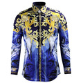 Camisas para hombre del diseñador Camisas de Los Hombres de Diseño Estilo real de Manga Larga Hombre camisa masculina Camisa de los hombres Camisas Casuales de Alta Calidad