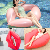 Environmentally Friendly PVC Inflatable Bed Adult Lip Floating