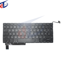"""10pcs/lot perfect testing norway keyboard Norwegian keyboard for macbook pro 15.4"""" A1286 keyboard without backlight 2009-2012"""