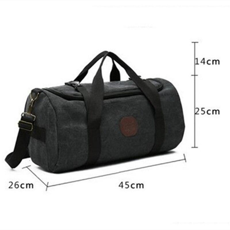 Handbag Shoulder-Bags Gym-Bag Fitness-Bags Canvas Multifunction Training Female Women