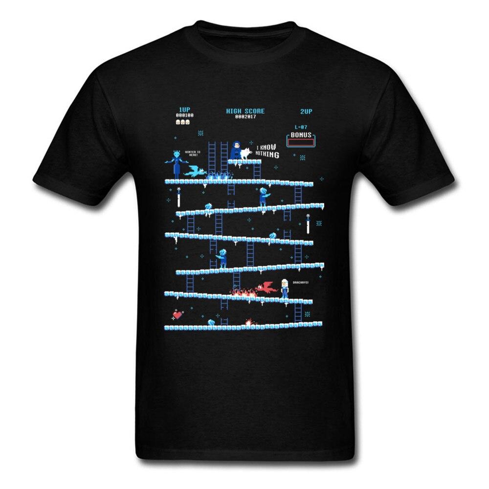 Мужская мода футболка летние шорты рукавом осел престолов игры Футболка с принтом в стиле ретро PC Gamer футболка интересные Для мужчин футбол...