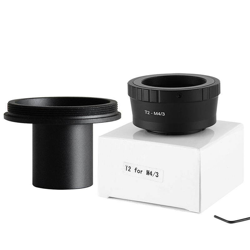 T2 for M4/3 T Lens Olympus Micro 4/3 Camera Mount adapter+0.91in 23.2mm Eyepiece Ports Microscope Adapter