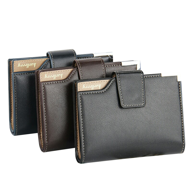 2018 Baellerry Short Bags New Simple Fashion PU Wallet For Men Quality Guarantee Clutch Bag Brand Card Holder Purse Wallet baellerry business wallet clutch long men purse hot sale card holder designer hand bags for man handy bags bid162 pm49