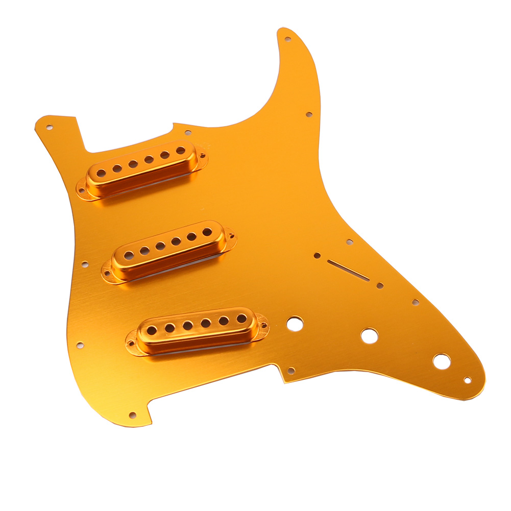 Homeland Guitar Pickguard Scratch Plate For Fender Gold 1-ply Pickguard With 3pcs Single Coil Pickup Cover For Electric Guitar 8pcs gold mirror pickguard scratch plate for electric guitar replacement